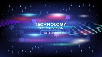 fondo astratto di concetto di tecnologia delle luci incandescenti