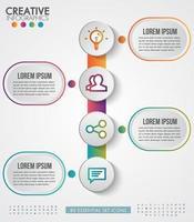 design moderno infografica per le imprese vettore