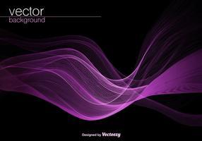 Vector sfondo viola onda