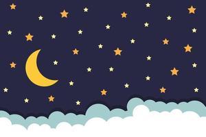 cielo notturno con le stelle vettore
