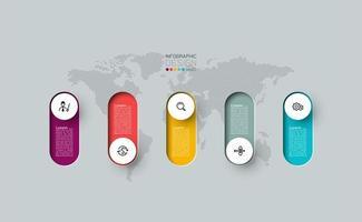 moderno modello di progettazione infografica