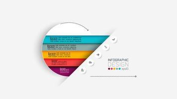 moderno modello di progettazione infografica vettore