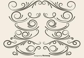 Divisori ornamentali vettoriali