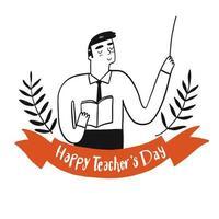 disegno di celebrazione del giorno degli insegnanti vettore