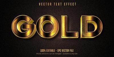 effetto di testo modificabile in stile dorato lucido oro