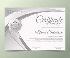 certificato premio d'argento