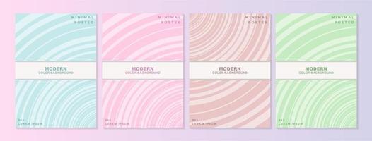 collezione di copertine con motivi geometrici minimi
