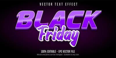 effetto di testo modificabile venerdì nero viola