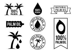 Vettore gratuito di olio di palma