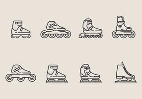 Set di icone Roller Blade