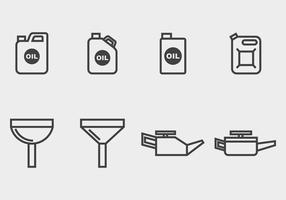 Icona cambio olio vettore