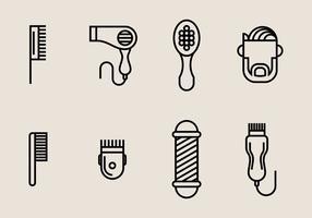 Icone di tagliacapelli vettore