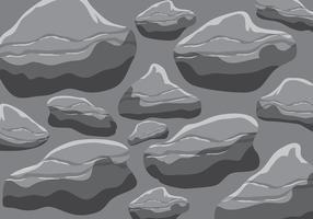 vettore di texturas di roccia grigia