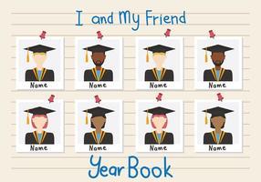 Vettore del libro di anno