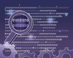 sfondo di codice binario vettore