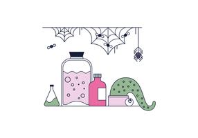 Spooky Lab Vector gratuito