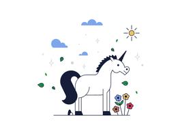 Vettore gratuito di unicorno