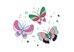 Vettore di farfalla gratis