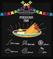 design di cibo messicano vettore