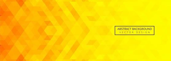 banner di piastrelle geometriche astratte arancione e giallo vettore