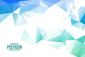 astratto blu verde poligonale con triangoli vettore