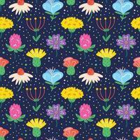 seamless pattern di fiori di campo