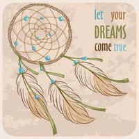 design di poster di dreamcatcher vettore