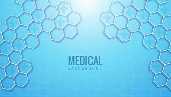 astratto sfondo esagonale medico e sanitario