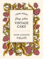 biglietto di auguri vintage floreale