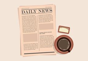 Illustrazione del vecchio giornale vettore