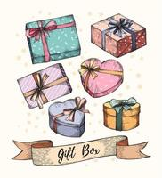 collezione di scatole regalo