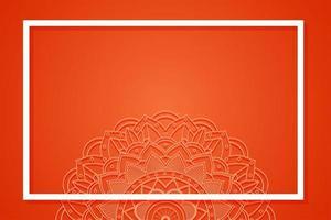 modello di sfondo rosso con disegno mandala