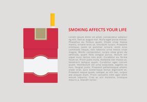 Modello di infografica pacchetto di sigarette vettore