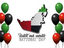 Banner degli Emirati Arabi Uniti per celebrare la giornata nazionale