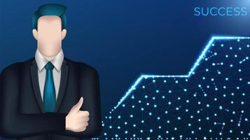 crescita dell'uomo d'affari al concetto di successo vettore