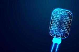 microfono low poly disegno astratto vettore
