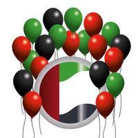 Bandiera della giornata nazionale degli Emirati Arabi Uniti
