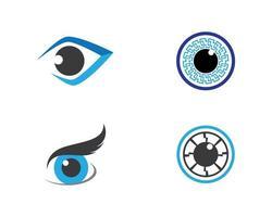 modello di logo dell'occhio vettore