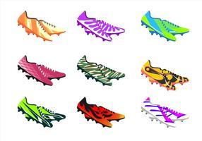 Scarpe da calcio vettoriali gratis