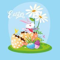 coniglio di Pasqua in giardino