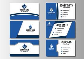 Vettore blu della carta di nome di affari