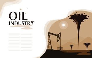 scena dell'industria petrolifera con torre