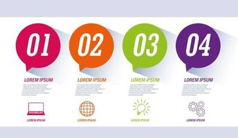 infografica con icone di affari