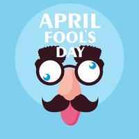 April Fools Day con accessori per la faccia da pazzi