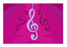 Viola violino chiave appesa