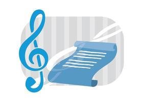 Chiave di violino con un foglio di musica