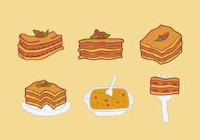 Illustrazione vettoriale di cibo Lasagna