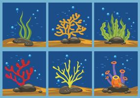 Illustrazione vettoriale di colore alghe