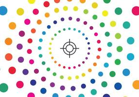 Cerchio cromatico vettore