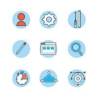 set di icone di programmazione e codifica